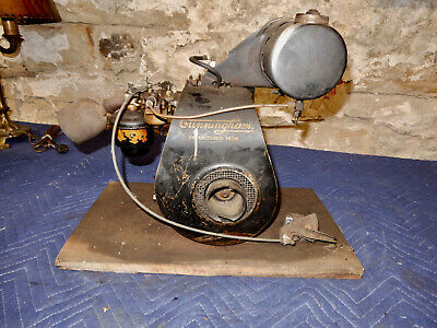 Antique Cunningham Model Eb Small Engine Original Paint Good Compression
