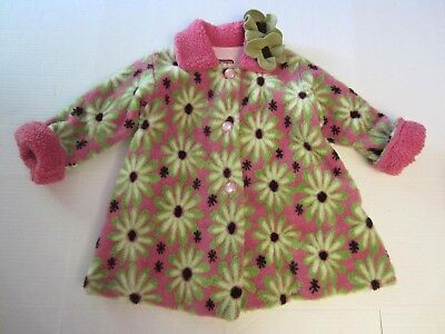 Girls Coat Clearance (Corky & Company Coat 5 Pink Green Floral Button Front Girl CLEARANCE SALE)