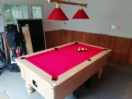 Pool table 6ft slate With Cue's