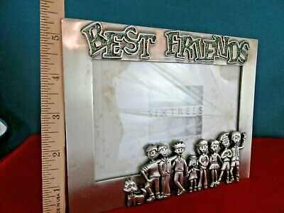 111.  Photo Picture Frame - Best Friends Silver with boys girls and