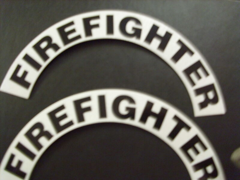 CRESCENTS  PAIR FIREFIGHTER FOR FIRE HELMET OR HARDHATS