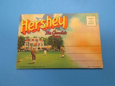 Vintage Souvenir Postcard Folder Hershey PA The Chocolate Town S245