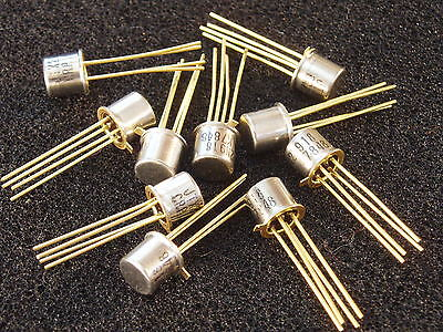 Qty 10 Tested 2n918 Rf Transistor Mil-spec Jantx2n918 Gold Leads Hfifvhf New