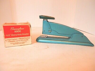 Vintage Swingline Green Heavy Duty Stapler With Staples-vgc-free Shipping