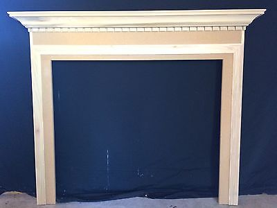 Fireplace Mantel Ready To Ship Paintable 48 wide x 42 high inside Opening