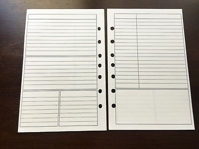 Notes Undated Refill For A5 7-ring Planner Organizer Insert