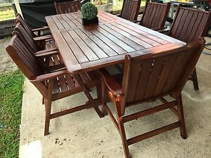 9 Piece Solid Timber Dining Outdoor Setting Bald Hills Brisbane North East Preview