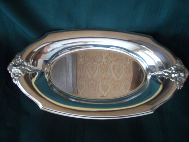 Vintage Webster Wilcox IS Silverplated Serving Tray 13 x 7, EUC