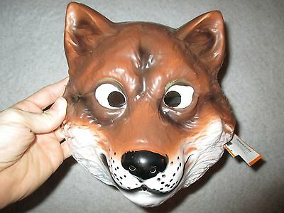 Fox Mask Halloween Costume Plastic Unisex Party Role play Theater Child or Adult