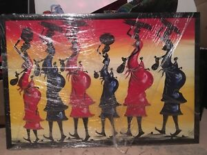 Painting from Africa - professionally framed