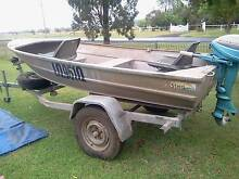 11 ft stessel tinny 6hp evinrude cover tank trailer Pittsworth Toowoomba Surrounds Preview