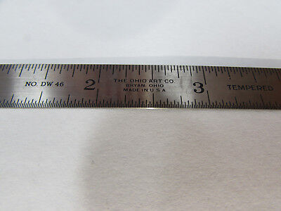 Ohio Art Machinist Ruler Rule Scale 18 116 132 164 No. Dw 46 Nos Cb4