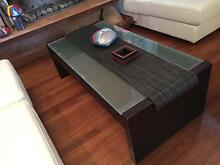 Big Coffee Table. Solid Wood and Glass Castlecrag Willoughby Area Preview