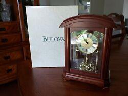 Bulova quartz mantel clock - very good used condition