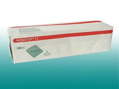 600 Vliesstoffkompressen unsteril NOBATOP 12 7,5x7,5cm Sparpack 6-fach gelegt