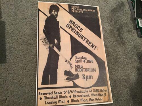 Bruce Springsteen vintage-like 1970's Concert ad Poster