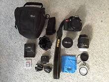 Nikon D3100 w/18-55mm & Bower Fisheye lenses, 32GB SD card & Case Curl Curl Manly Area Preview