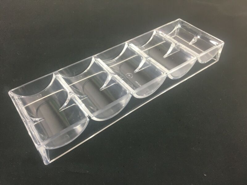 100 Casino Clear Acrylic Chip racks  -NEW-  **Free Shipping**