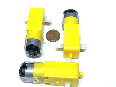 3 Pieces Rc Mini 3v 6v Dc 160ma 100rpm Dual Shaft Car Toy Reduced Gear Motor C13