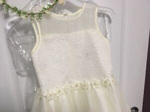 Flower Girl Dress with Flower Crown