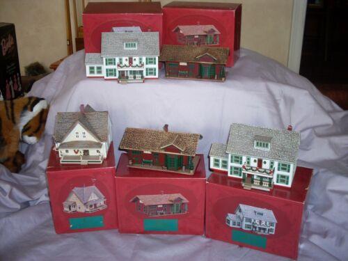 Hallmark 1994 Sarah Plain And Tall Collection Houses Maine Prairie Train lot of