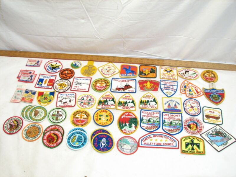 Lot 55+ 1960s Boy Scout Patches Camporee Valley Forge PA Council Pilgrimage