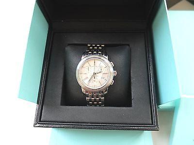 Original Tiffany & Co. Herren Armbanduhr Chronograph Edelstahl + Box + Anleitung