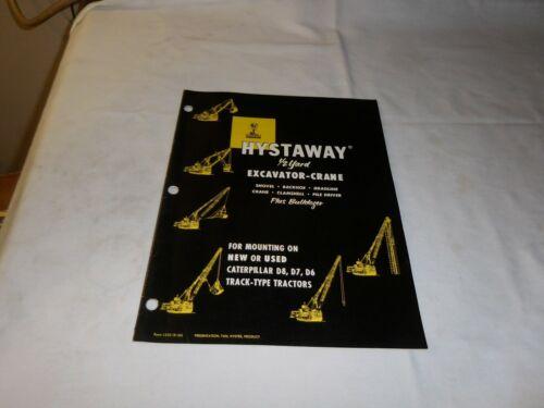 1956 HYSTER HYSTAWAY EXCAVATOR-CRANE