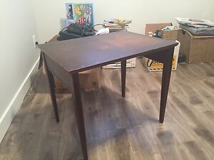 Wood side table / end table - brown