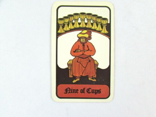 Vintage 1972 Hoi Polloi Tarot *Single Replacement Card* Nine of Cups