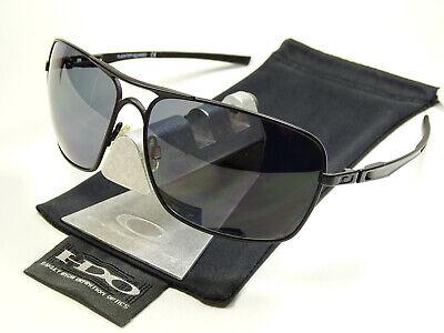Oakley Plaintiff Squared Black Polarized Sonnenbrille Pilotenbrille Inmate Taper