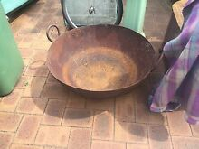 Fire pit /BBq cast iron wok the largest you've seen Bayswater Bayswater Area Preview