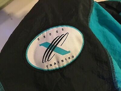 Vintage Nike Cross Training Windbreaker MEN size XL  Full Zip Vent Running Teal