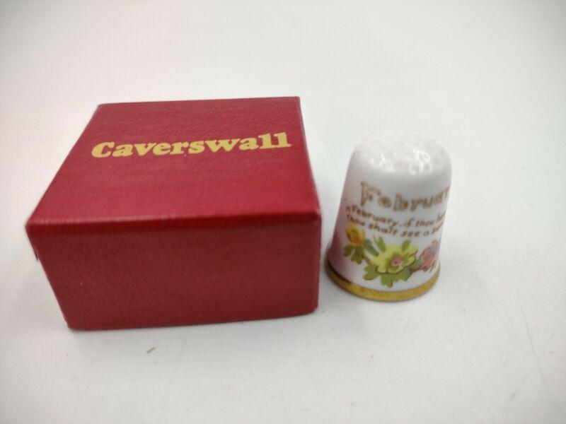 "Caverswall Thimble February ""The Diary of a Edwardian Lady"""