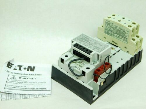 NEW OPENED BOX - Eaton C30CNM40H02A0 30A Mech Held Lighting Contactor VN