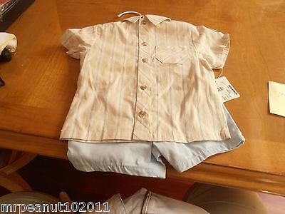 FIRST MONENTS/LAYETTE-- TWO PIECE---0/3 MONTHS--NEW WITH TAGS--TOP WITH PANTS