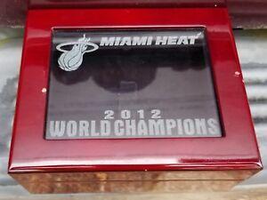 2012 MIAMI HEAT NBA WORLD CHAMPIONS CHAMPIONSHIP RING BOX