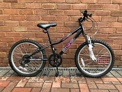 """Apollo Chaos 20"""" Wheel Girls Mountain Bike Front Suspension 6 Speed 10"""" Frame"""