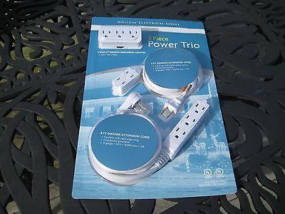 - Sylvania 3 Piece Power Trio Extension Cord Set. Holiday Series. Free Shipping!