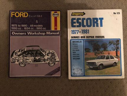 Mk2 ford escort workshop manuals