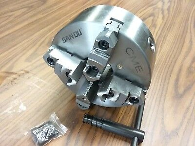 8 4-jaw Self-centering Lathe Chuck Topbottom Jaws-0.003 Tir 0804f0-sf-new