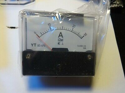 Analog Panel Amp Meter Ac30a Ammeter Ac0-30a Doesnt Require Shunt Yt-670