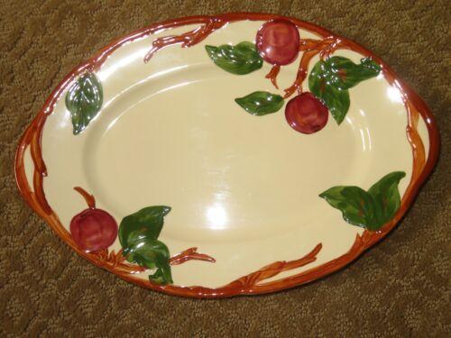 "TABLE DECOR Mid-Century FRANCISCAN APPLE 12.5"" Oval Platte #2"