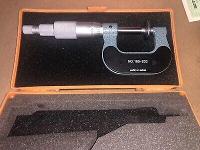 Mitutoyo No. 169-203 Disc Micrometer 0-1 Excellent