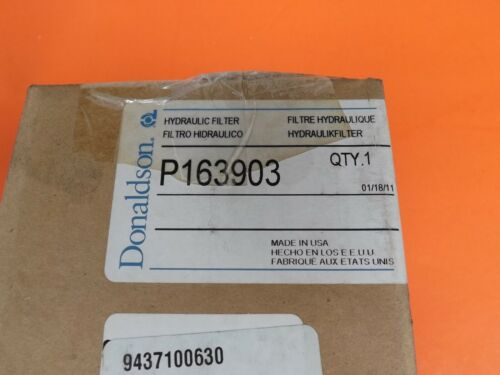 New In Box DONALDSON P163903 HYDRAULIC FILTER CARTRIDGE