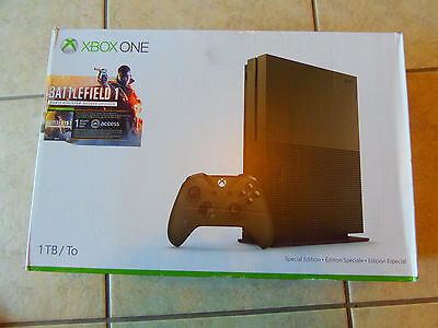Microsoft Xbox One S 1Tb   Battlefield 1 Military Green Special Edition   Used