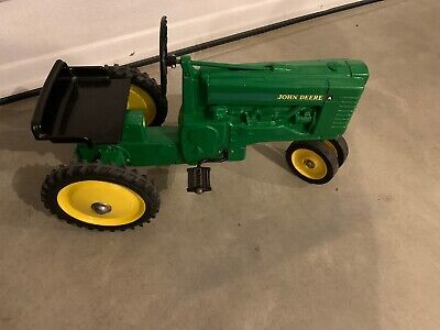 John Deere Ertl Child Kid Metal Pedal Ride On Green Tractor Working Hitch