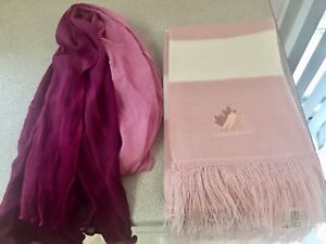 Girls/women pink and purple scarves $5 each