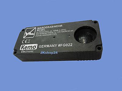 KEMO FG022 mobile MARDERABWEHR MARDERSCHRECK MARDERSCHUTZ TOP-Ultraschall-Abwehr