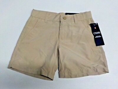 Boys Size 16 Husky Chaps Beige Moisture Wicking Uniform Short New Nwt  #12620